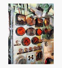 Steampunk Gauges - Engine Room Photographic Print