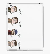 Übernatürlich - Cas, Dean, Bobby, Sam iPad-Hülle & Klebefolie