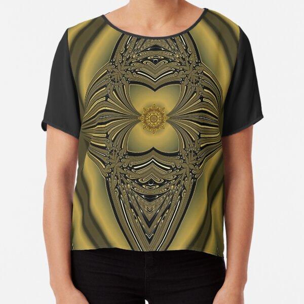 Golden Rose Chiffon Top