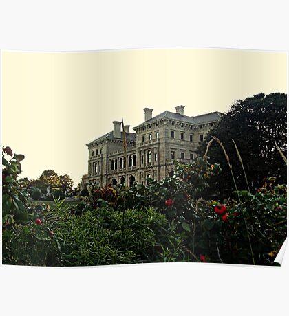 The Vanderbilt Mansion Breakers from the Cliff Walk, Newport RI Poster