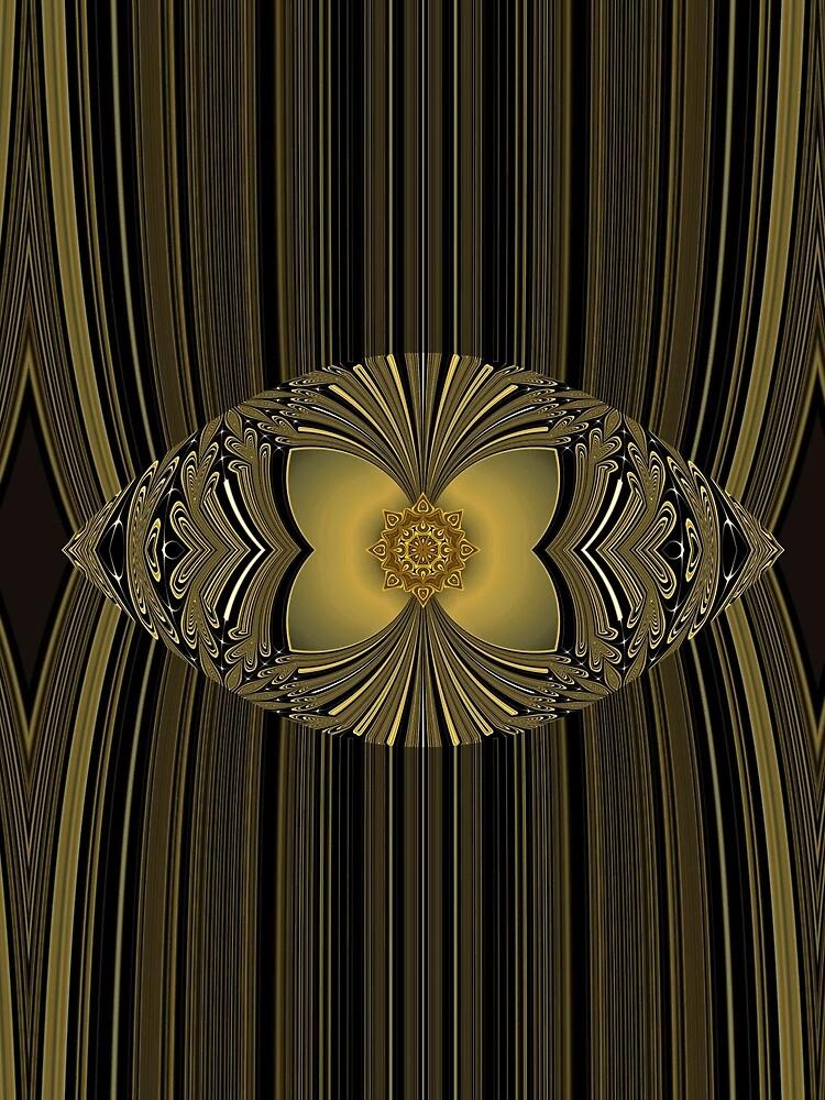 Golden Floral by vkdezine