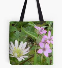 Windflower and Pin Clover Tote Bag