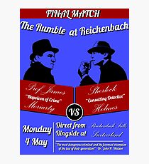 Rumble at Reichenbach (Poster) Photographic Print
