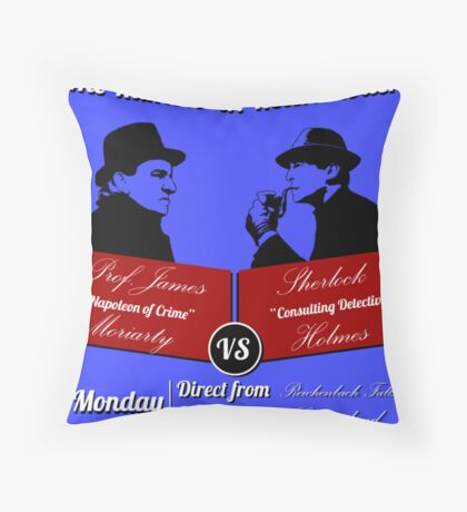 Rumble at Reichenbach (Poster) Throw Pillow