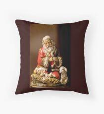 Kneeling Santa Throw Pillow