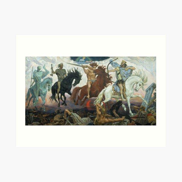 Four Horsemen of the Apocalypse. 1887. Painting by Viktor Vasnetsov.  Art Print