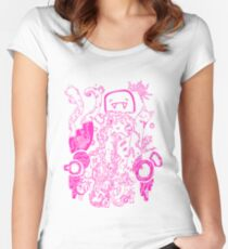 Doodle 66 Pink Women's Fitted Scoop T-Shirt