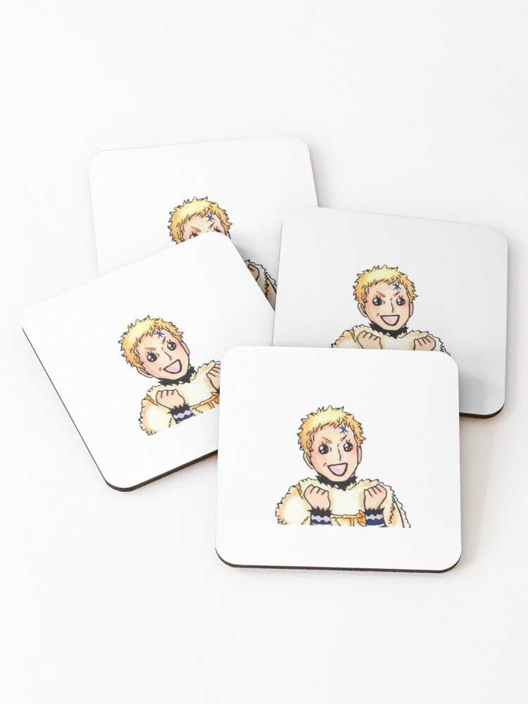 Julius Novachrono Black Clover Coasters Set Of 4 By Francesco2m Redbubble He his magic is the ability to control time. julius novachrono black clover coasters set of 4 by francesco2m redbubble