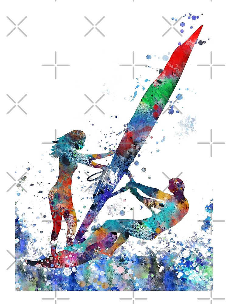 Windsurfer, windsurfing couple by Rosaliartbook