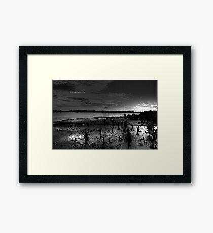Warneet - Western Port B&W Framed Print