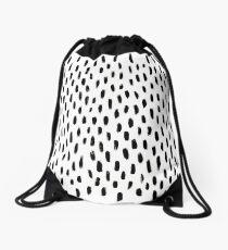 Handpainted Brush Texture Drawstring Bag