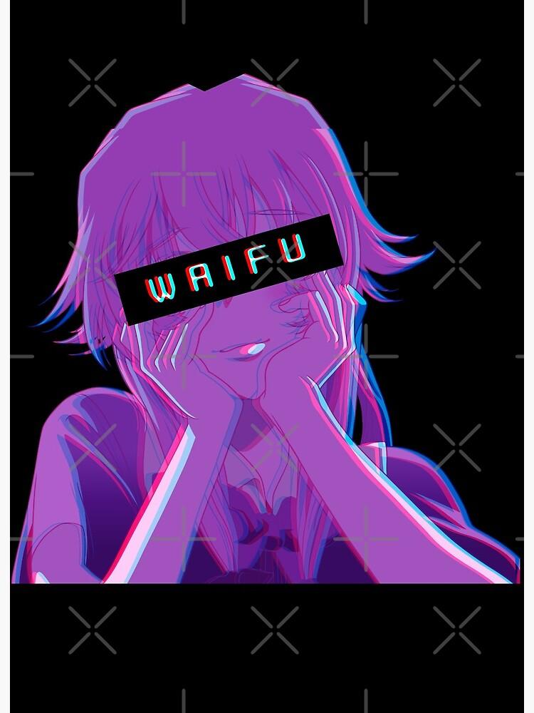 Waifu Yuno Gasai Future Diaries Mirai Nikki Art Board Print By Aniprint Redbubble