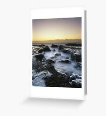 """A Foamy Reception"" ∞ Currumbin, QLD - Australia Greeting Card"