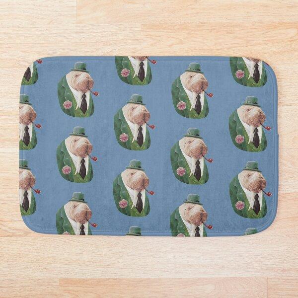 Walrus Green Bath Mat