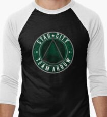 Star City: Team Arrow  Men's Baseball ¾ T-Shirt