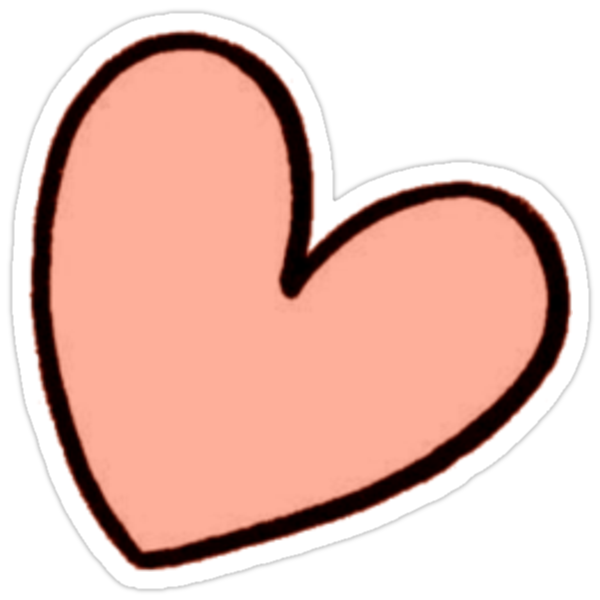 """Orange Heart Sticker tumblr"" Stickers by youtubemugs ..."