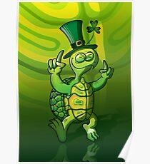 Saint Patrick's Day Turtle Poster