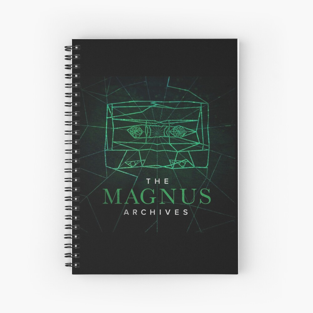 The Magnus Archives Logo (Season 5) (Square Block Logo) Spiral Notebook