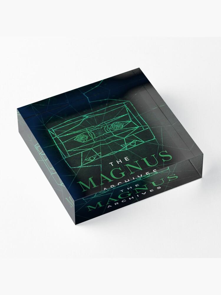 Alternate view of The Magnus Archives Logo (Season 5) (Square Block Logo) Acrylic Block