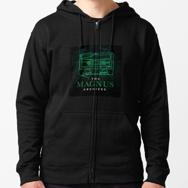The Magnus Archives Logo (Season 5) (Square Block Logo) Zipped Hoodie