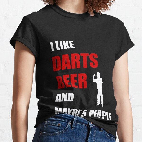 Darts player like beer dartboard triple  funny gift Classic T-Shirt