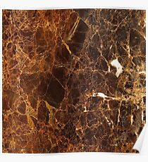 Brown Marble Poster