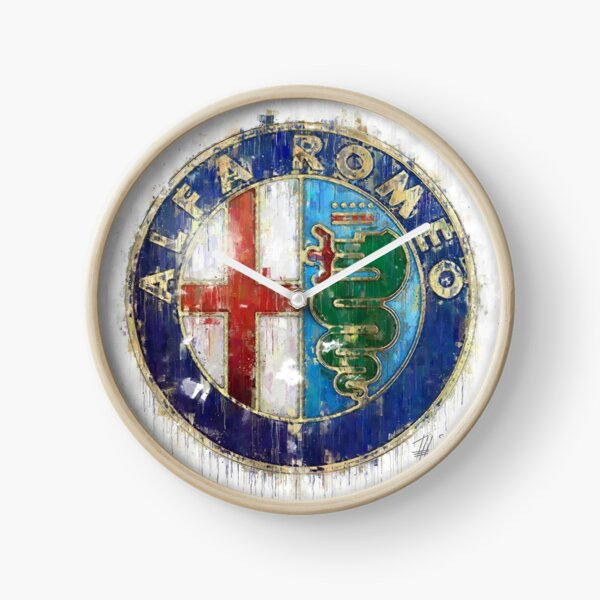 Alfa Romeo Logo Clock