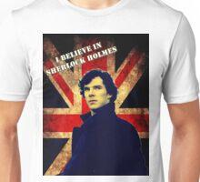 SherlockBelieveFlag Unisex T-Shirt