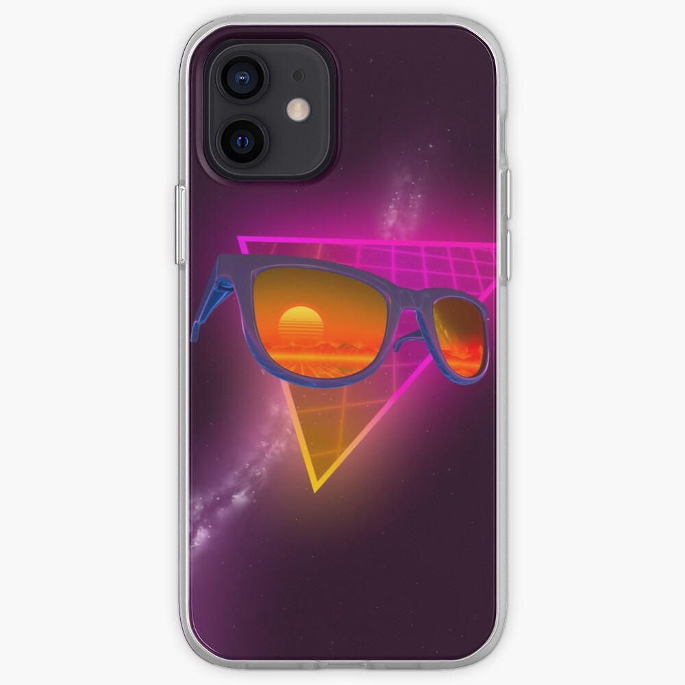 Sunglasses in space (Purple) iPhone Case