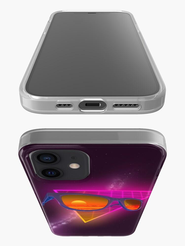 Alternate view of Sunglasses in space (Purple) iPhone Case