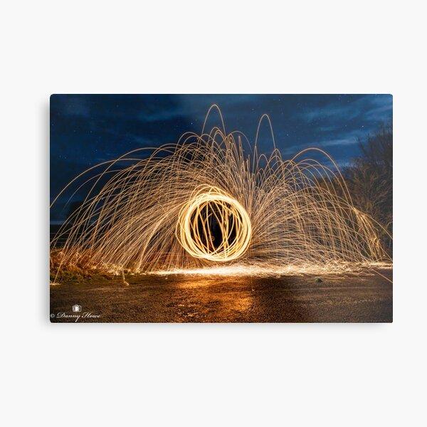 Steel wool spinning Metal Print
