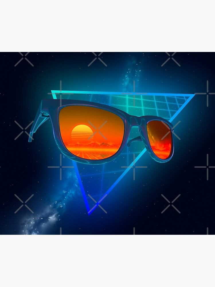 Sunglasses in space (Blue) by GaiaDC