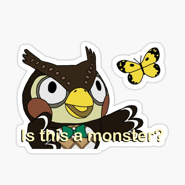 Blathers- is this a pigeon meme, no background Sticker