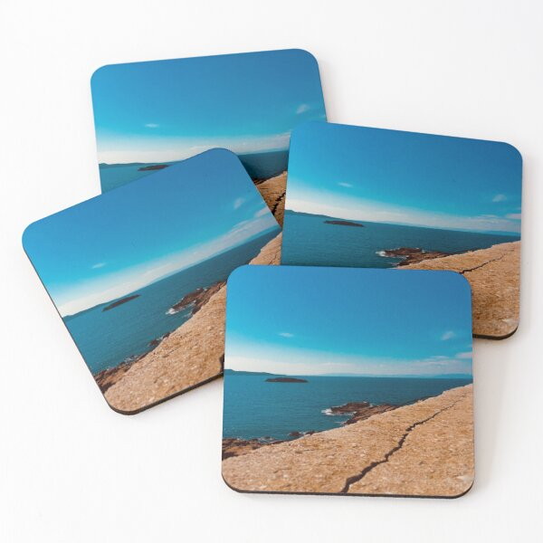 Seaview in Greece Coasters (Set of 4)