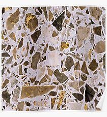 Brown Chip Marble Poster
