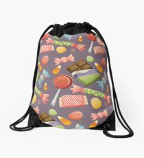 Sweets Pattern - Color BG Drawstring Bag