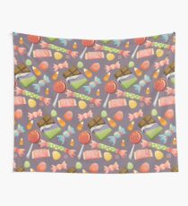 Sweets Pattern - Color BG Wall Tapestry
