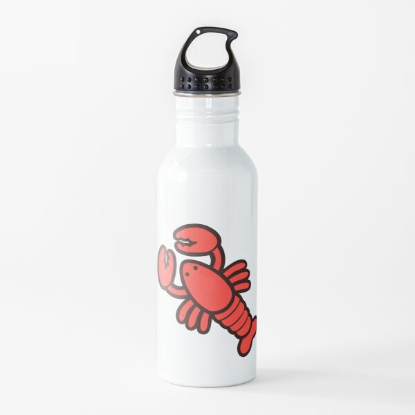 Lobsters Pattern on Light Pink Water Bottle