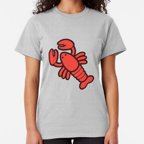 Lobsters Pattern on Light Pink Classic T-Shirt