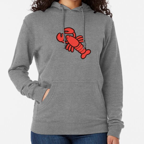 Lobsters Pattern on Light Pink Lightweight Hoodie