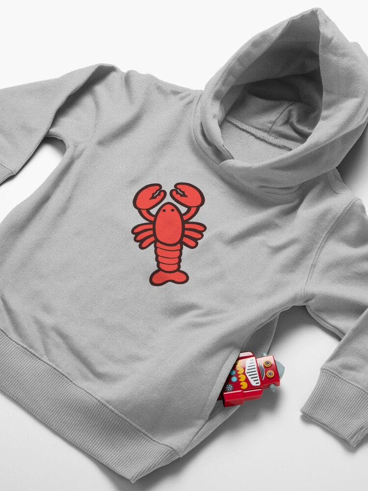 Alternate view of Lobsters Pattern on Light Pink Toddler Pullover Hoodie