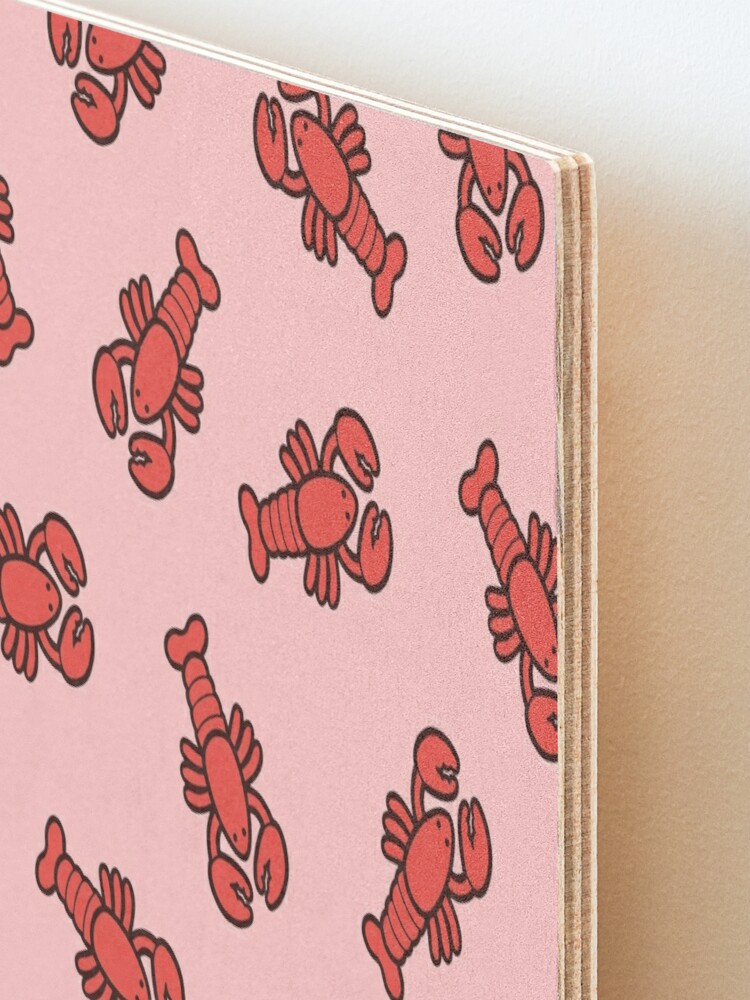 Alternate view of Lobsters Pattern on Light Pink Mounted Print