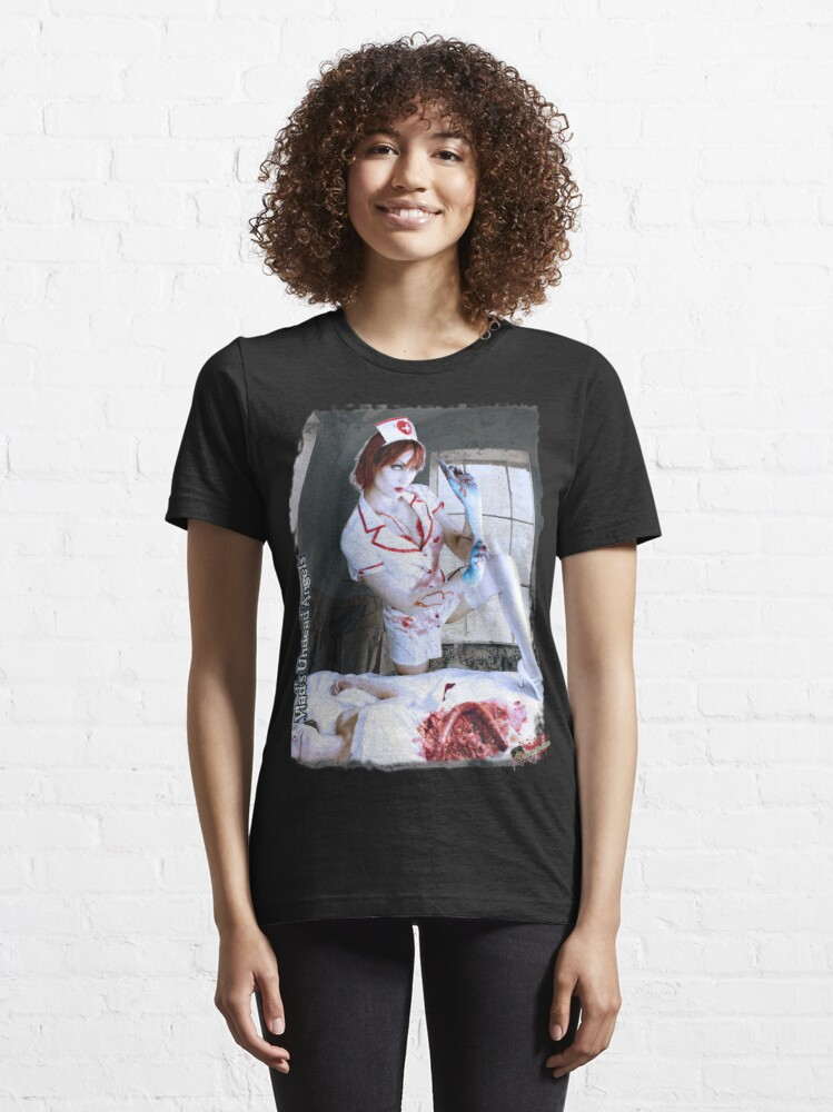 Alternate view of Live Undead Angels: Zombie Nurse Essential T-Shirt