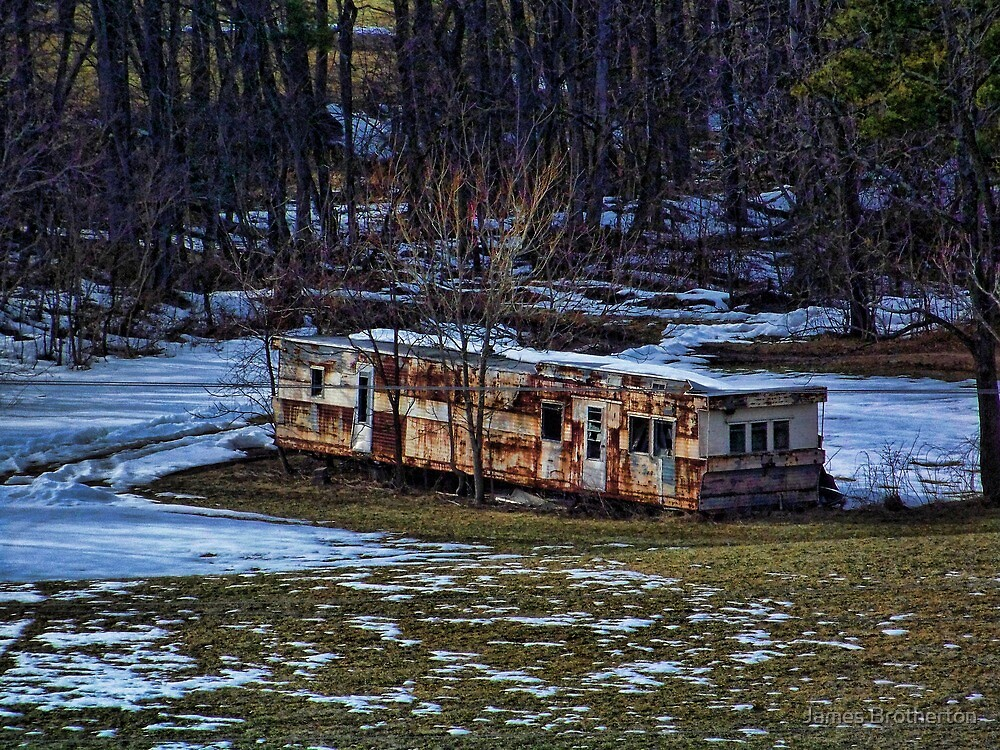 Abandoned Mobile Home by James Brotherton
