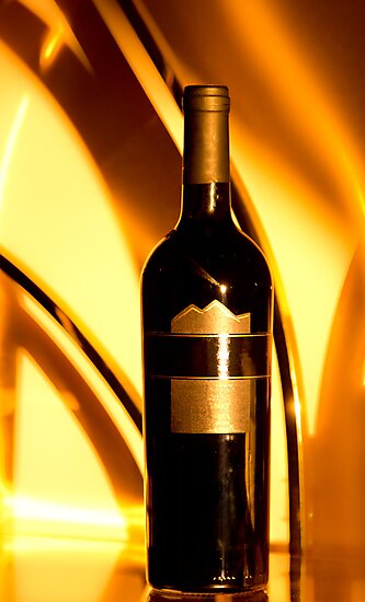 The golden wine bottle by derejeb