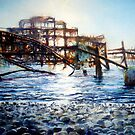 The West Pier , A derelict piece of victorian Architecture by LorusMaver