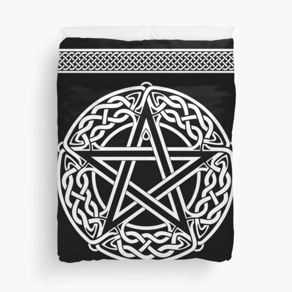 Celtic Pentagram or Pentacle white Duvet Cover