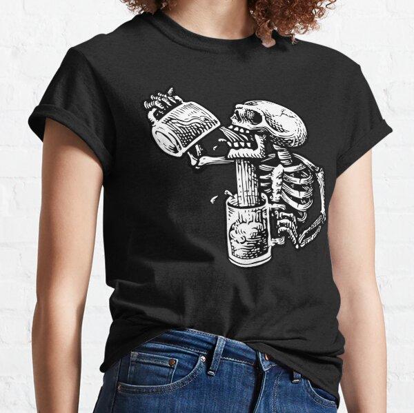Cráneo borracho Camiseta clásica