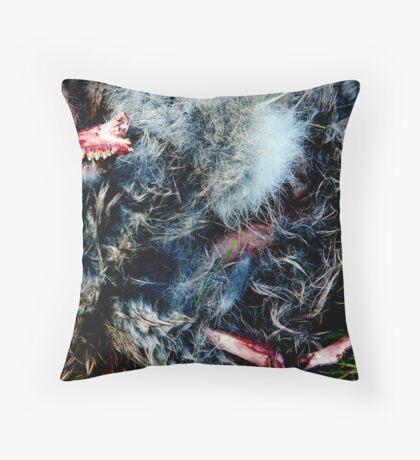 fur from flesh Throw Pillow