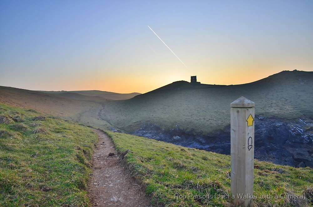 Cornwall: Evening on the Coast Path by Robert parsons
